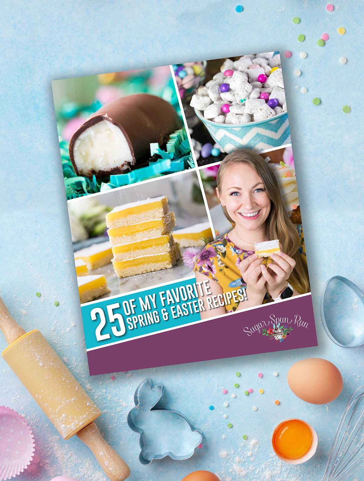 Cover image of Easter and Spring Ebook on blue background