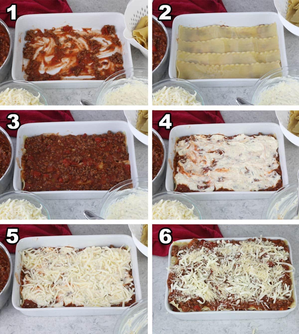 Lasagna assembly steps