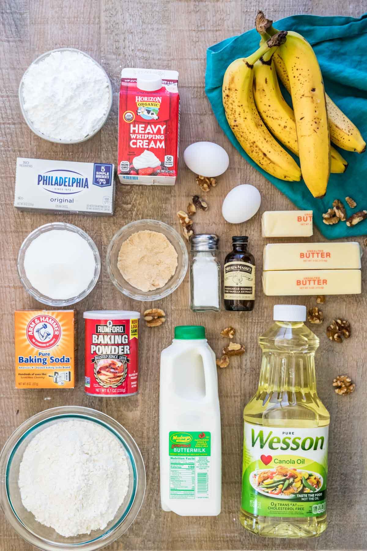 Banana cake ingredients