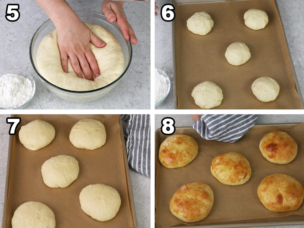 steps for making potato buns