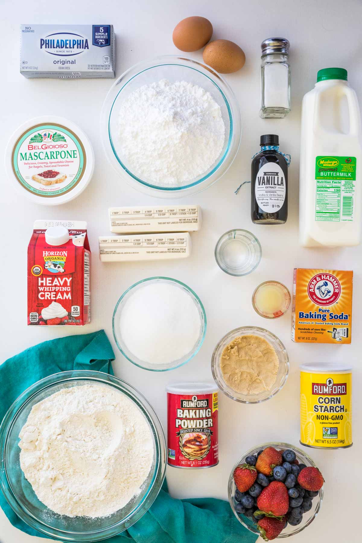 Ingredients for chantilly cake