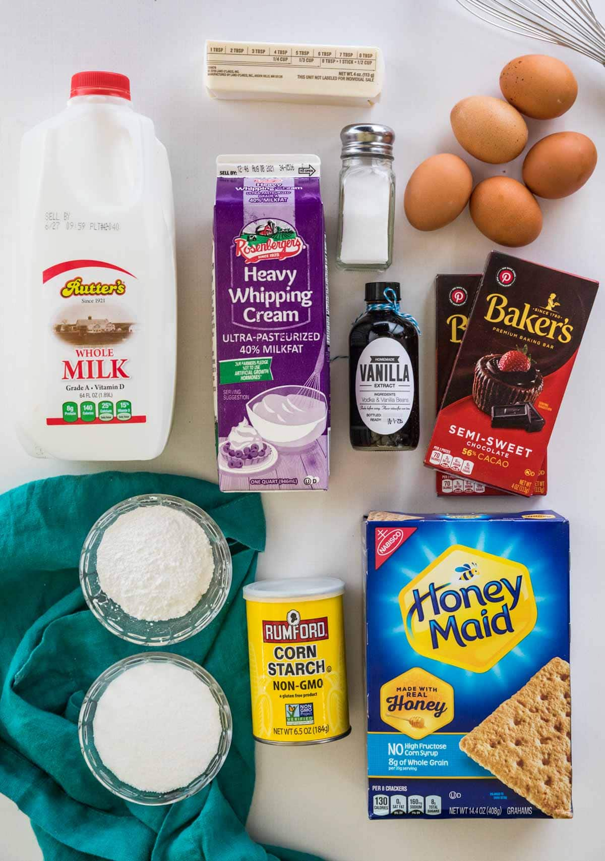 Ingredients for eclair cake
