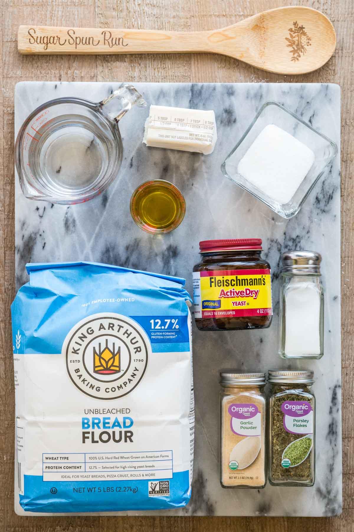 ingredients for homemade breadsticks
